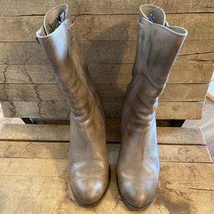 Frye Grey Women's Leather Short  Buckle Boots sz 8